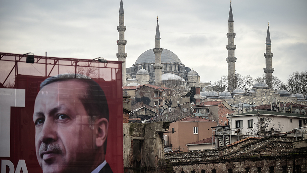 Erdogan poster in Turkey