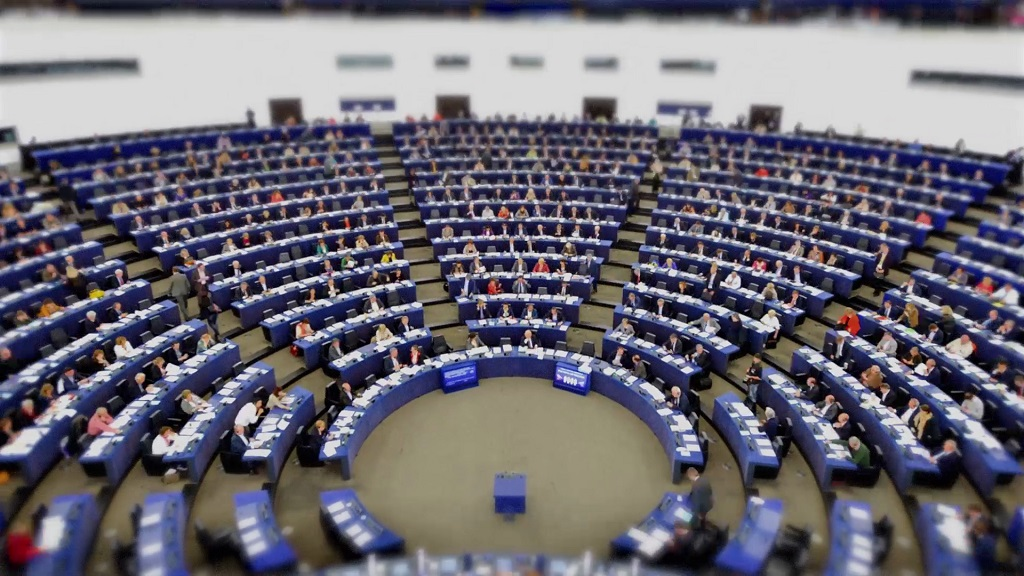 Hemicycle during a plenary session in Strasbourg