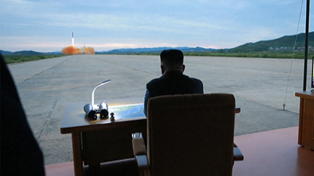 Kim Jong-un in a military base