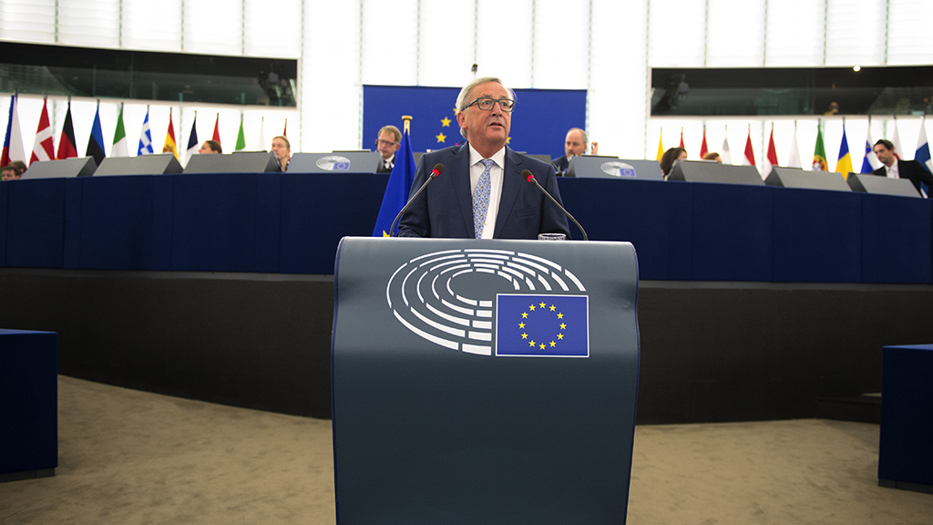 Jean-Claude Juncker at the European Parliement