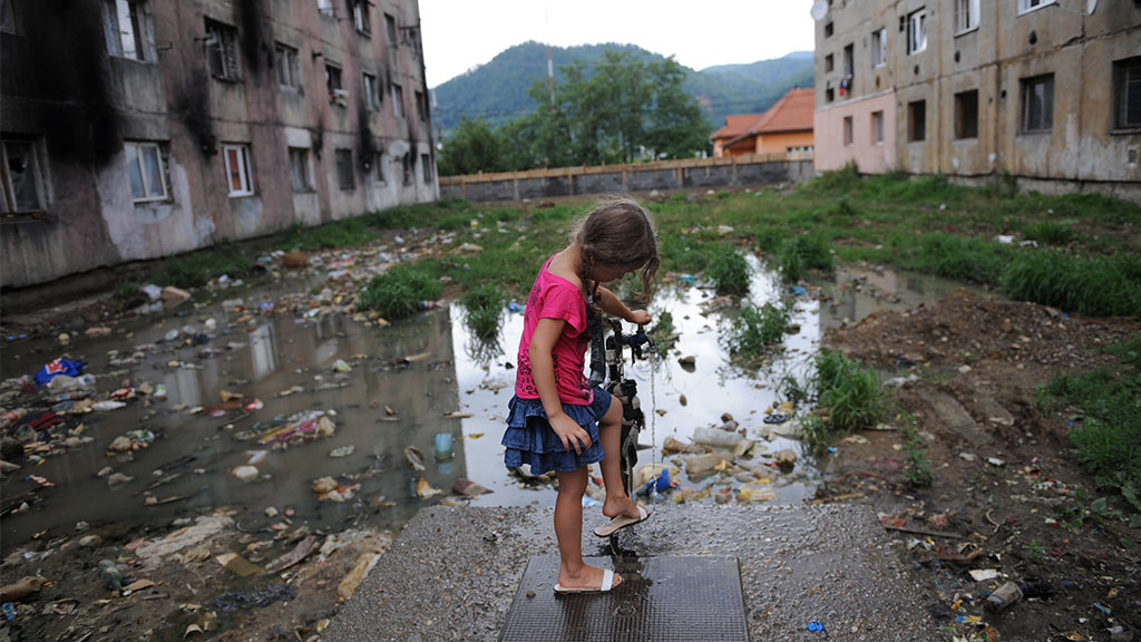girl with tap water