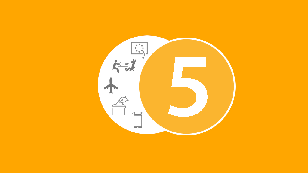 5 numbers icon